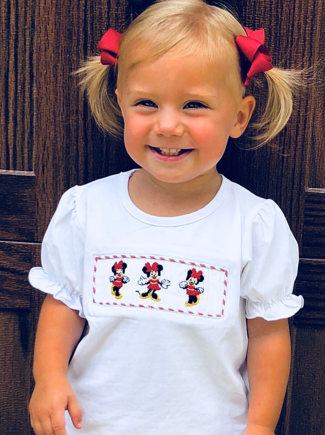 Minnie Inspired Smocked GIRL Tee