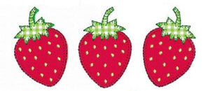 Add On Appliqué: Strawberry Trio