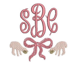 Add On: Pink Lamb Monogram Embroidery