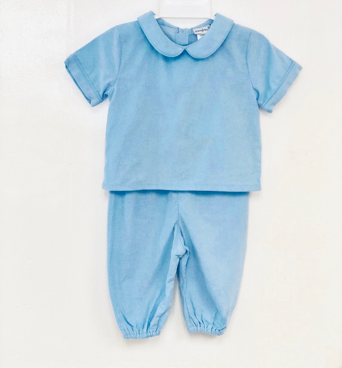 Blue Corduroy Top and Pants Set