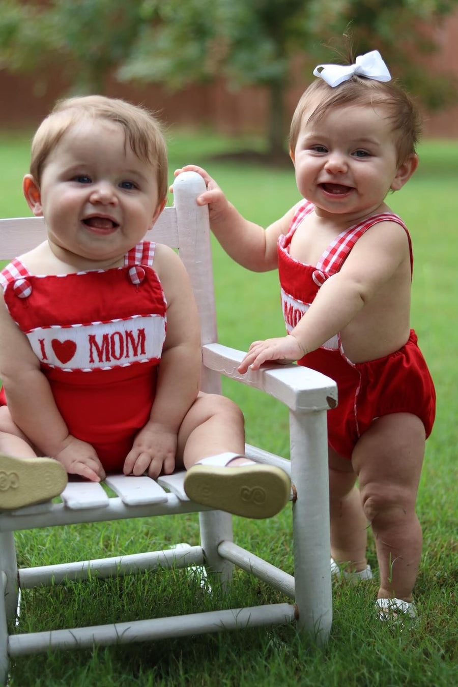"""I LOVE MOM"" UNISEX SUNSUIT"