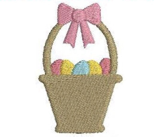 Add On: Pink Easter Basket Embroidery