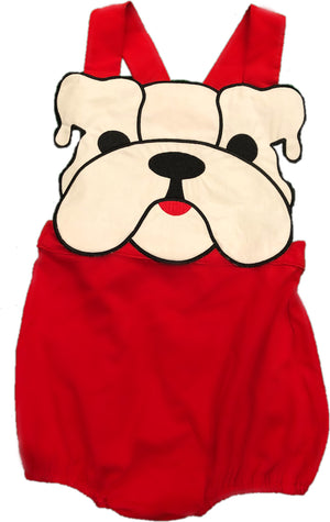 Special Order: White Bulldog Red Sunsuit