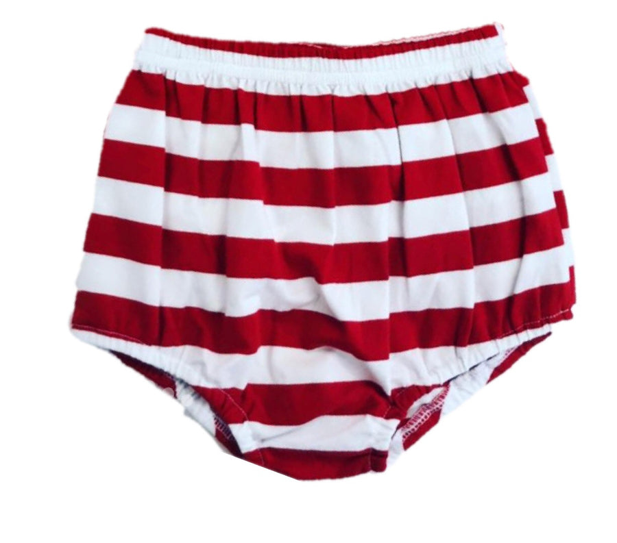 Red Stripe Knit Bloomer