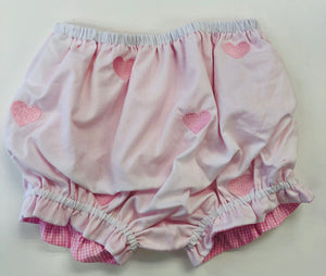 Embroidered Heart Reversible Bloomers