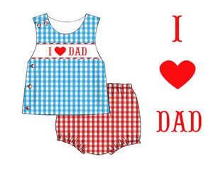 """I LOVE DAD"" BOY Diaper Set"