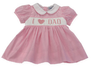 "Smocked ""I Love Dad"" Mini DRESS ONLY"