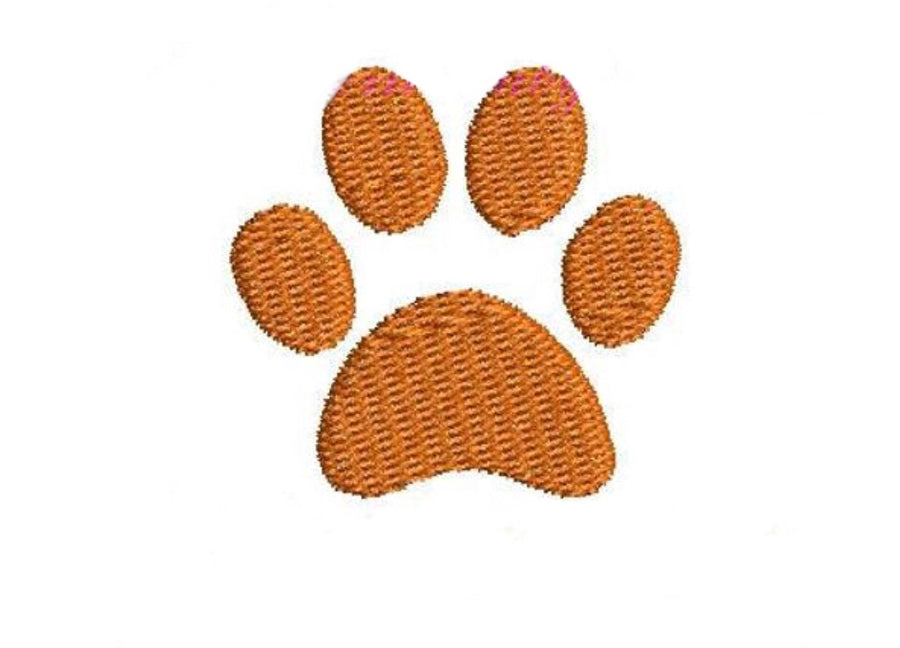 Embroidery Add On: Preppy Orange Pawprint