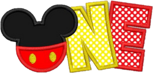 Embroidery Add On: Mickey ONE applique