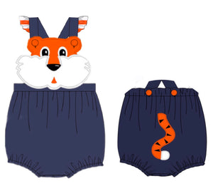 Ruffle Tiger Knit Sunsuit
