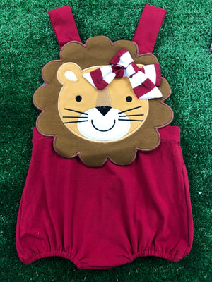 Special Order: Lion Sunsuit with Bow