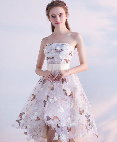Unique tulle lace short prom dress, 2019 new design tulle homecoming dress