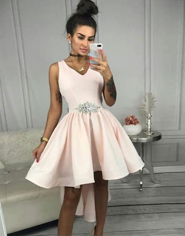 Pink short prom dress, pink homecoming dress