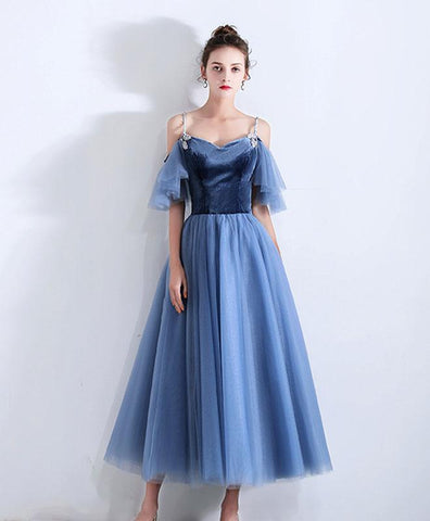 Simple Blue Sweetheart Short Prom Dress,Blue Bridesmaid Dress
