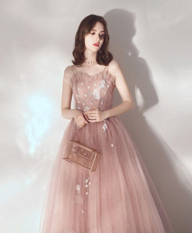 Cute Pink Sweetheart Tulle Prom Dress Pink Tulle Sweet 16 Dress