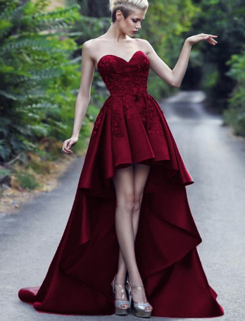 Beautiful High Low Prom Dresses Burgundy Prom Dresses Tulle Prom Dresses