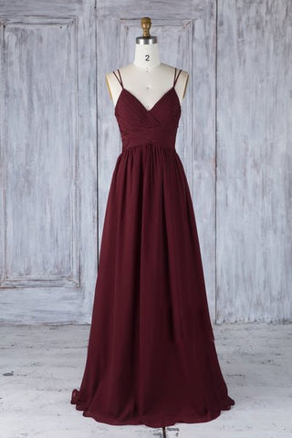 Simple burgundy tulle lace long prom dress burgundy lace evening dress