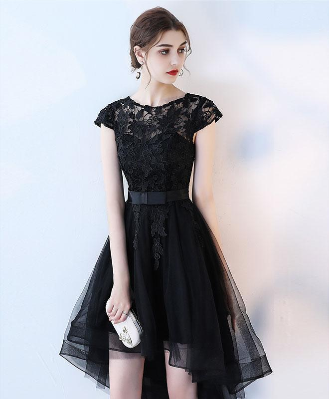 Black Lace Prom Dress Homecoming Dress Short Dress For Prom 2018