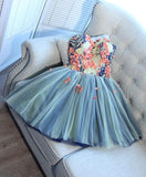 Cute Charming Tulle A Line Sweetheart Neck Short Prom Dress, Homecoming Dresses