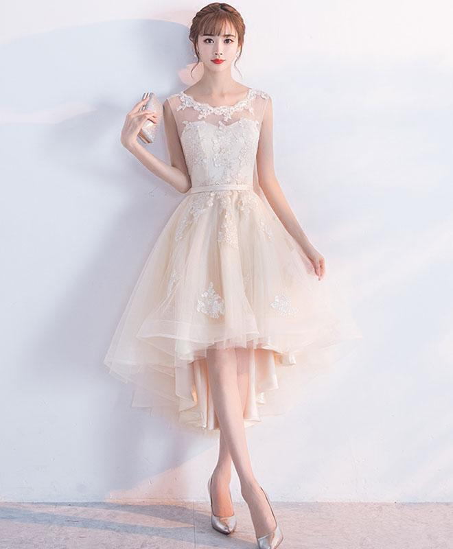528ca3d89bc 2018 cute pink tulle lace prom dress