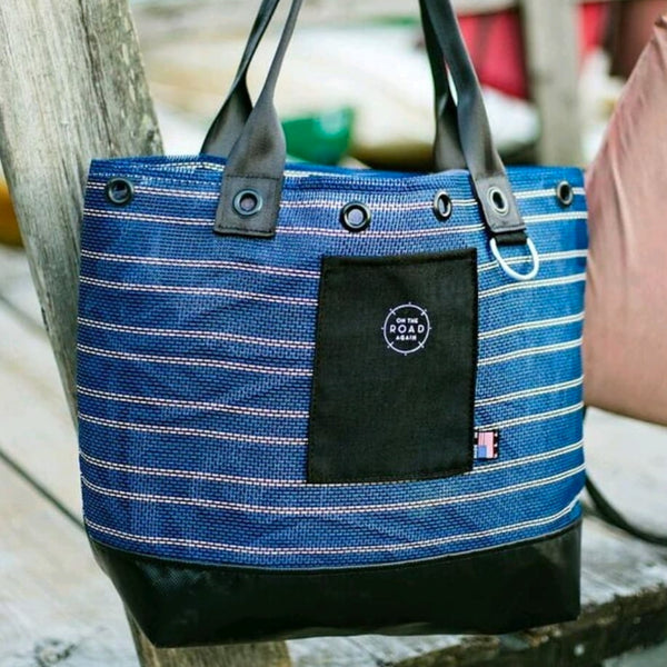 Windham Tote Bag Blue & White