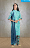 Darpali Blue Unstitched Suit Material