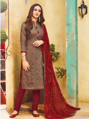 Red semi stitched suit material