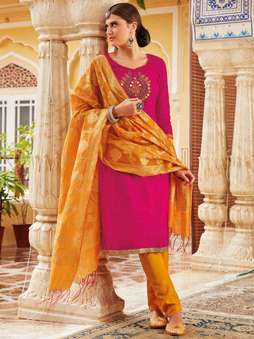 Zardoshi Work Rani unstitched suit material