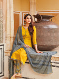 Yellow Cotton Salwar Suit