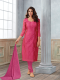 Pink Embroidered Salwar Suit