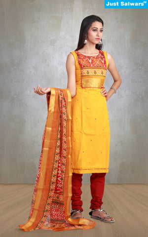 Sucheta Gold Unstitched Suit Material
