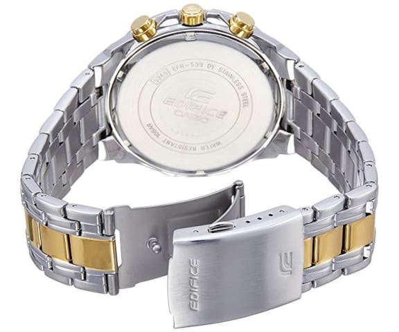 EDIFICE EFR-539SG-1AVUDF Chronograph Gold & Silver Stainless Steel Mens Watch