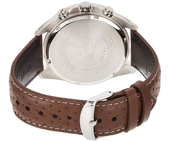 EDIFICE EFV-550L-5AVUDF Chronograph Quartz Leather Brown Dial Mens Watch