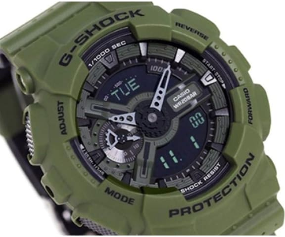 G-SHOCK GA-110LP-3A Analog-Digital Army Green Mens Watch