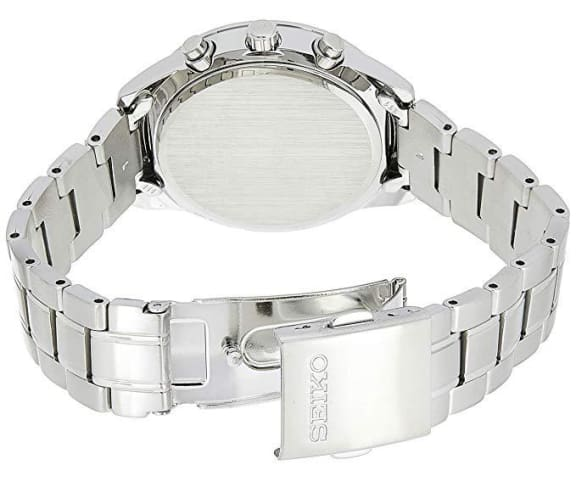 SEIKO SNDV51P1 Chronograph Analog Stainless Steel White & Blue Dial Womens Watch