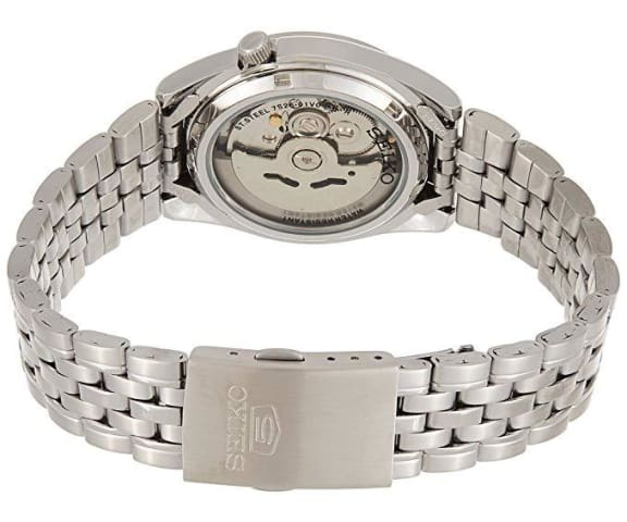 SEIKO SNK355K1 Automatic Analog Stainless Steel White Dial Mens Watch