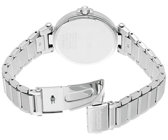 SEIKO SUT153P1 Solar Analog Stainless Steel Silver Dial Womens Watch