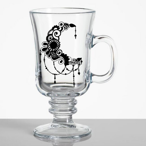 Ramadan Irish Coffee Glass Mug - Henna Dil Se
