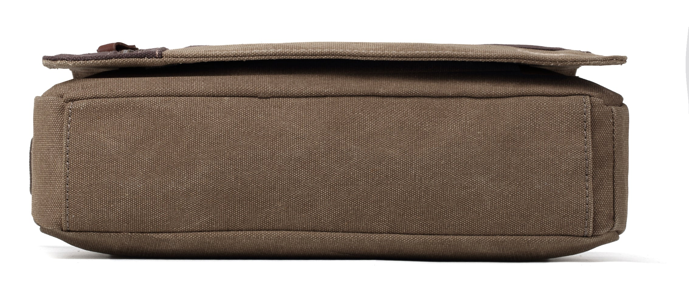 Troop London Canvas Messenger Bag Two Tone Classic Collection Size Small TRP0365 Brown