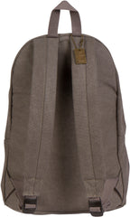 Troop London Canvas Backpack Fits 15.5 Inch Laptop Notebook Size Large TRP0384 Grey Navy
