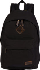 Troop London Canvas Backpack Fits 15.5 Inch Laptop Notebook Size Large TRP0384 Black