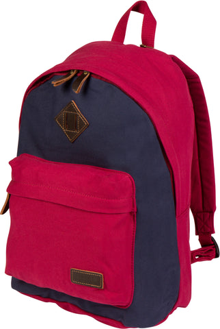 Troop London Canvas Backpack Fits 15.5 Inch Laptop Notebook Size Large TRP0384 Red Navy