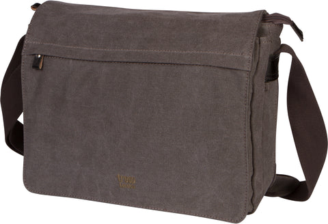 Troop London Canvas Messenger Bag Fits Up To 15 Inch Laptop Size Medium TRP0240 Black