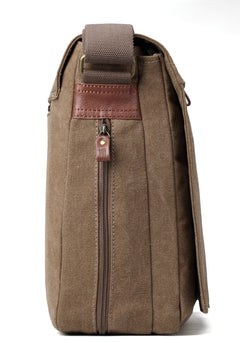 for upto 17 inch TRP0371 Troop London Classic Canvas Laptop Messenger Bag