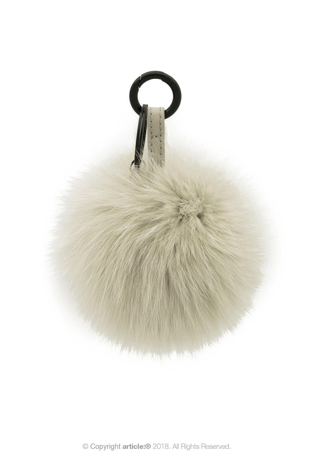 article: #400 Bag Charm / Keyring Pom Pom - Oyster