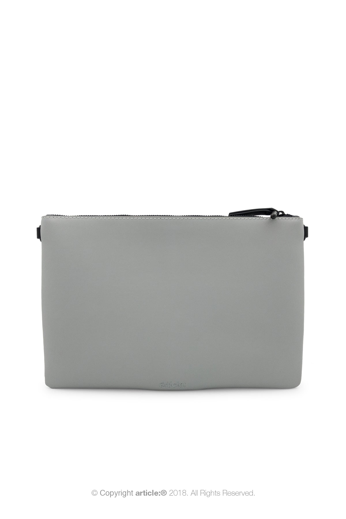 article: #079 Pochette Grande Flat Men - Noir + Gris