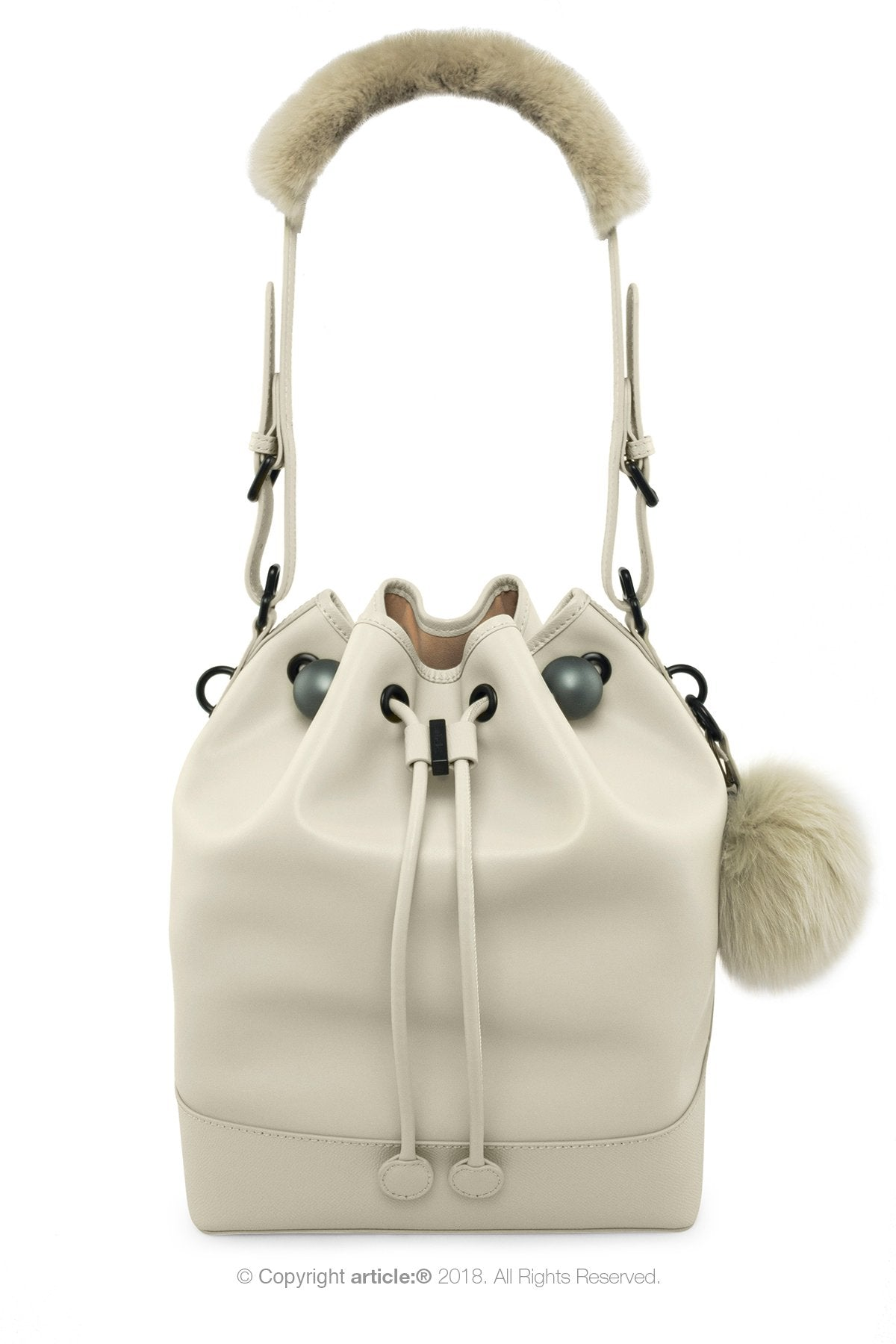 article: #120 Handbag Grande Bucket - Oyster