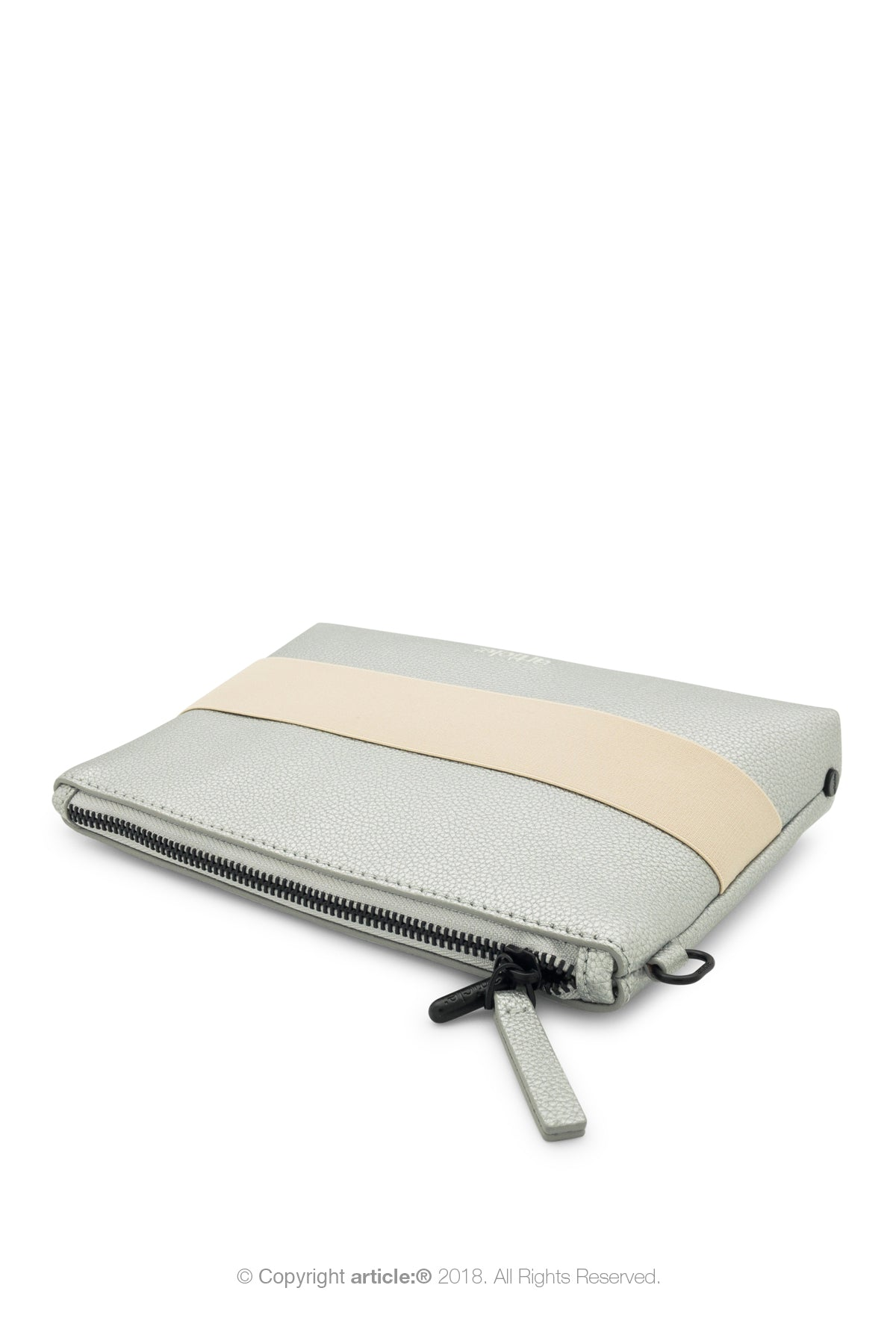 article: #015 Pochette Gusset - Silver