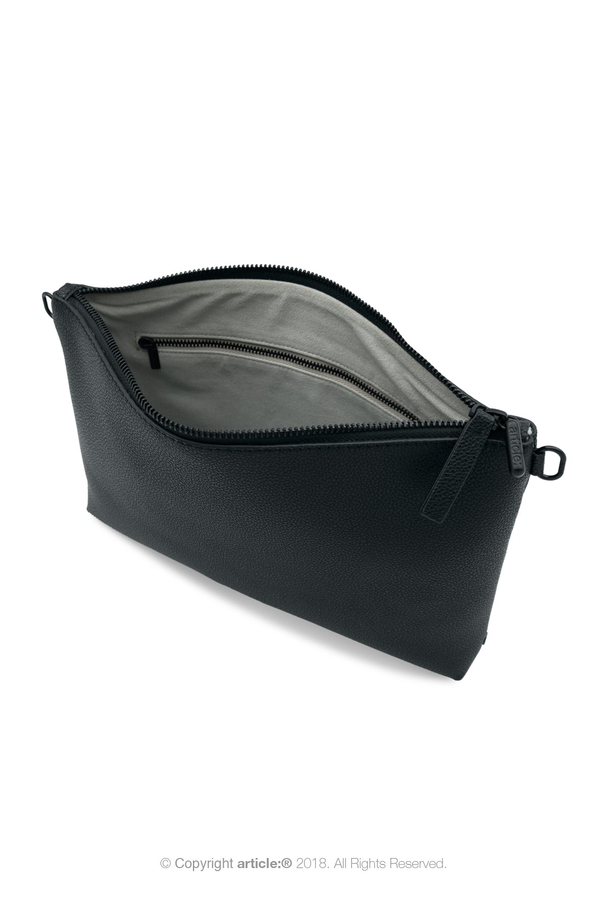 article: #073 Pochette Grande Gusset Men - Noir