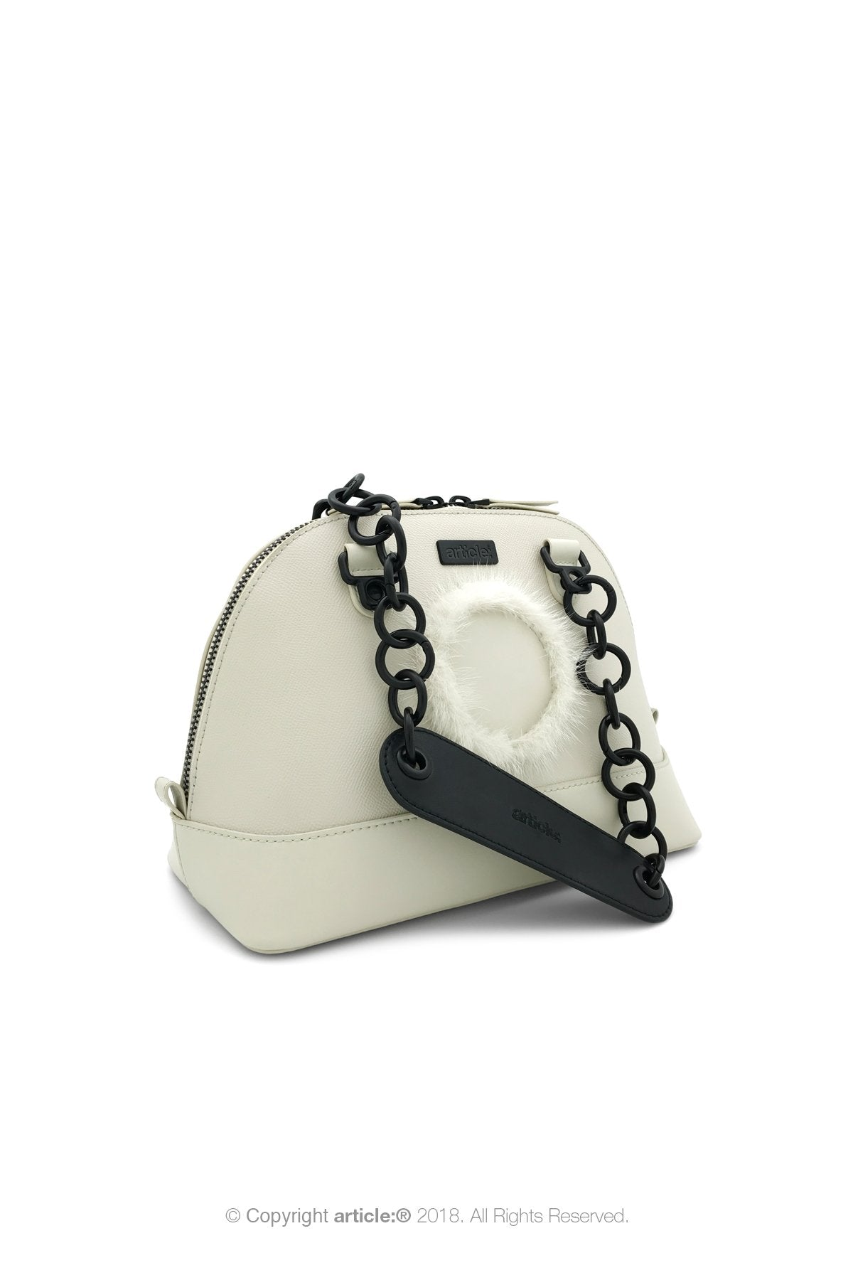 article: #140 Handbag Top Handle - Oyster